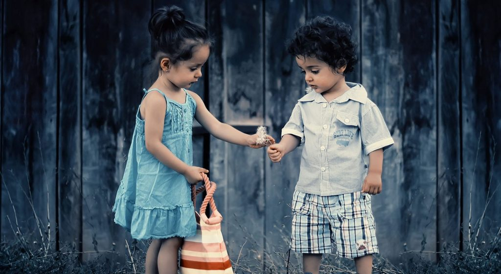 cute children being kind - karma